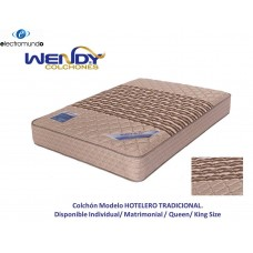 COLCHON WENDY HOTELERO TRADICIONAL KING SIZE